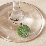 Canopy of Spring Leaves Green Nature Scene Wine Glass Charm