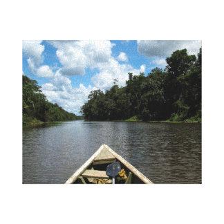 Canotaje abajo del Amazonas Impresiones De Lienzo