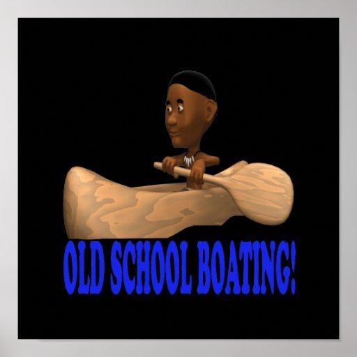 Canotaje de la escuela vieja poster