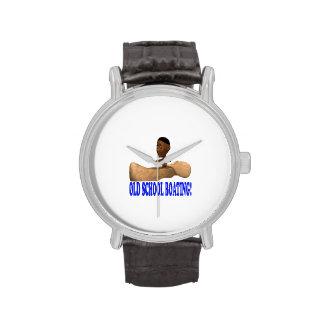 Canotaje de la escuela vieja relojes de pulsera