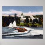 Canotaje de Nápoles Maine en el lago largo Posters
