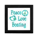 Canotaje del amor de la paz cajas de joyas