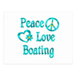 Canotaje del amor de la paz postales