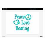 Canotaje del amor de la paz calcomanía para portátil