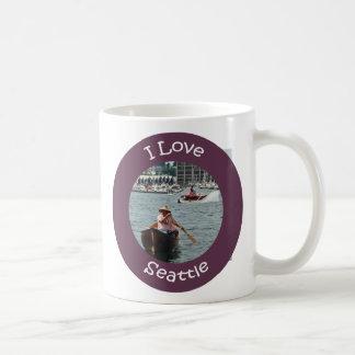 Canotaje en círculo de la unión del lago taza de café