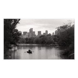 Canotaje en el Central Park NYC (impresión) Fotografías