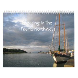 Canotaje en el noroeste pacífico calendario de pared
