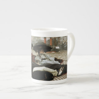 Canotaje en el puerto taza de porcelana
