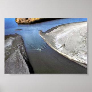 Canotaje en el río del puerco espín impresiones