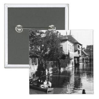 Canotaje en el río Gera en Erfurt Pin Cuadrado