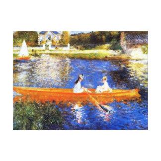 Canotaje en el río Sena Renoir Impresiones En Lienzo Estiradas