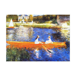 Canotaje en el río Sena Renoir Lienzo Envuelto Para Galerías