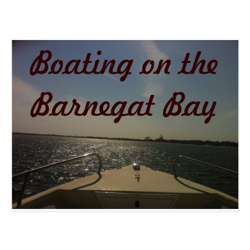 Canotaje en la bahía de Barnegat Tarjeta Postal