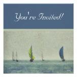 Canotaje en las invitaciones del lago Michigan Invitaciones Personalizada