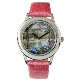 canotaje rio abajo reloj de mano