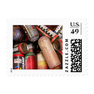 Cans Postage Stamps