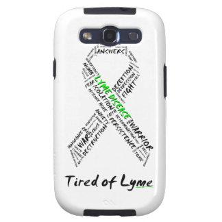 Cansado de la caja de la galaxia S de Lyme Samsung Galaxy SIII Protector