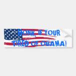 Cansado de la pegatina para el parachoques de Obam Pegatina De Parachoque