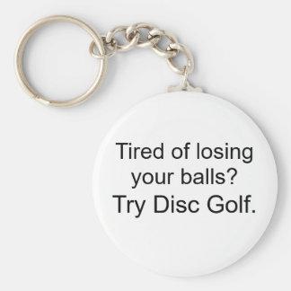¿Cansado de perder sus bolas? , Golf del disco del Llaveros Personalizados