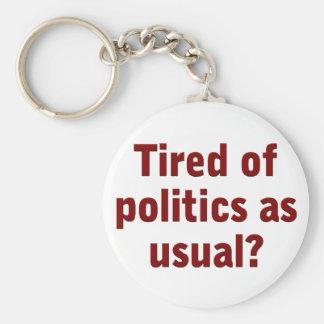 Cansado de política como de costumbre vote hacia f llaveros