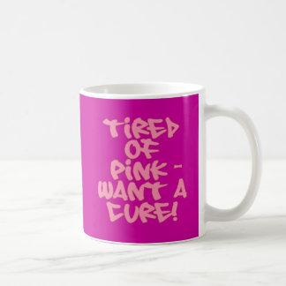 Cansado de rosa - quiera los productos de la curac taza de café