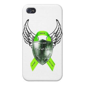 Cansado del caso del iphone del logotipo de Lyme iPhone 4 Protectores