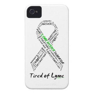 Cansado del caso intrépido de la ayuda de Lyme iPhone 4 Case-Mate Protectores