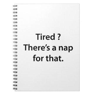 ¿Cansado? Hay una siesta para ése Cuadernos