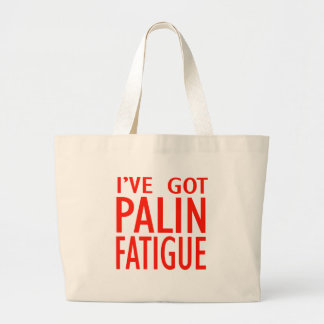 Cansancio de Palin Bolsas Lienzo