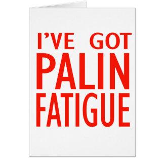 Cansancio de Palin Felicitacion