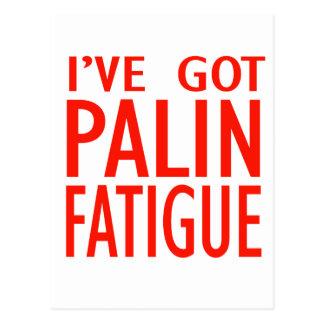 Cansancio de Palin Postales