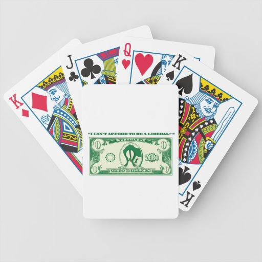 Cant Afford Liberal Bicycle Playing Cards