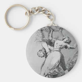 Can't anyone untie us? by Francisco Goya Keychain