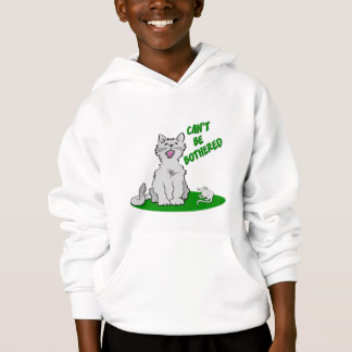 Can't Be Bothered Cat Hoodie