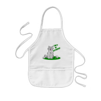 Can't Be Bothered Cat Kids' Apron