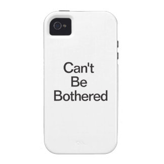 Can't Be Bothered iPhone 4/4S Cases
