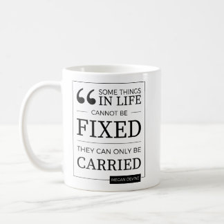 can't be fixed mug in black on white