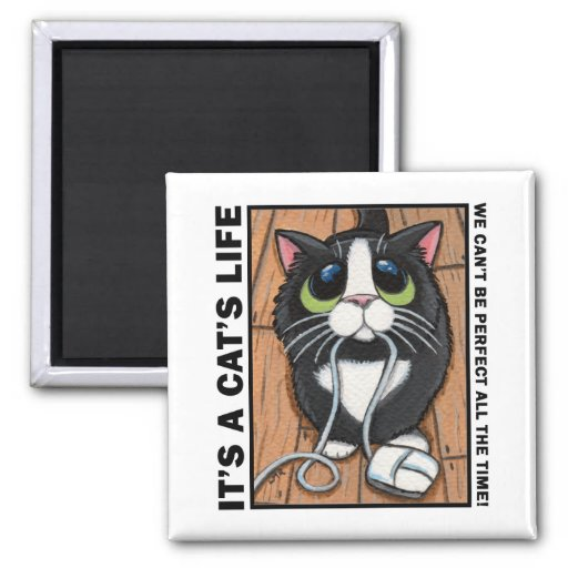 Can't Be Perfect v.01 - It's A Cat's Life Magnet