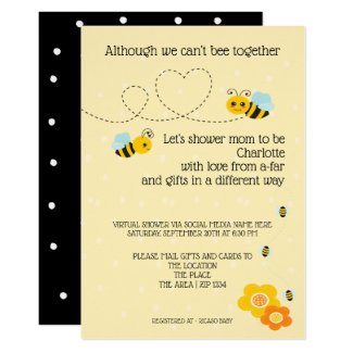 Cant Be Together Baby Shower by Mail Invitation