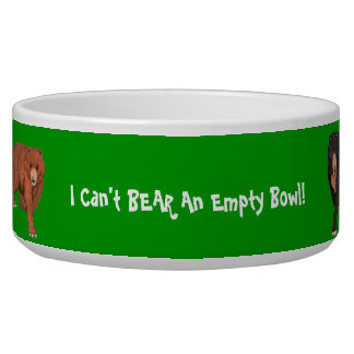 Can't Bear and Empty Bowl Dog Bowl