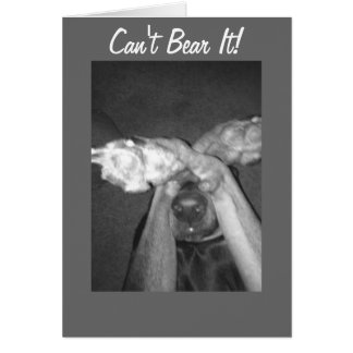 CAN'T BEAR IT-MISS YOU CARD