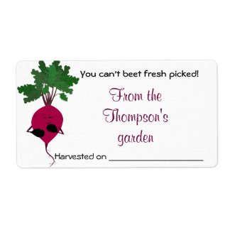 Can't Beet Fresh Vegetables Avery Label