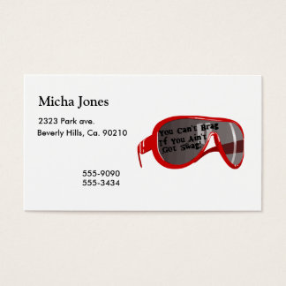 Can't Brag If You Ain't Got Swag Business Card