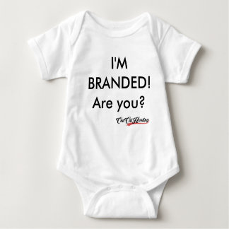 Can't brand too young baby bodysuit