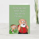 Can't Bribe Santa cards