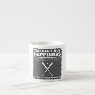 Can't Buy Happiness Baseball Espresso Cup
