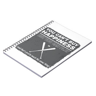 Can't Buy Happiness Baseball Notebook