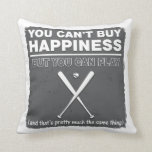 Can't Buy Happiness Baseball Throw Pillow