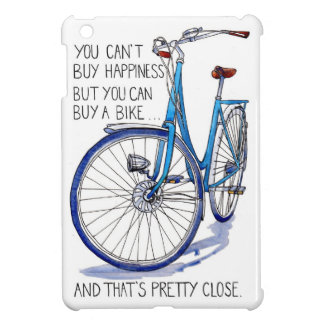Can't buy happiness, blue bike iPad mini covers
