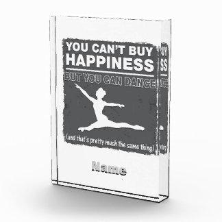 Can't Buy Happiness Dance Acrylic Award